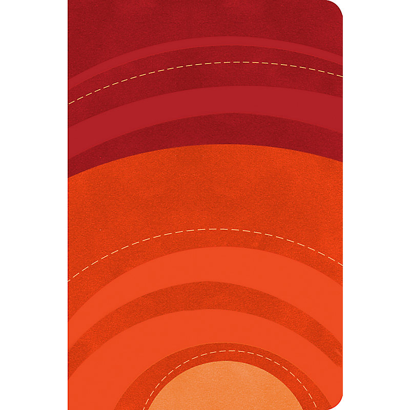 RVR 1960 Biblia Letra Grande Tamaño Manual gamuza roja/naranja, símil piel