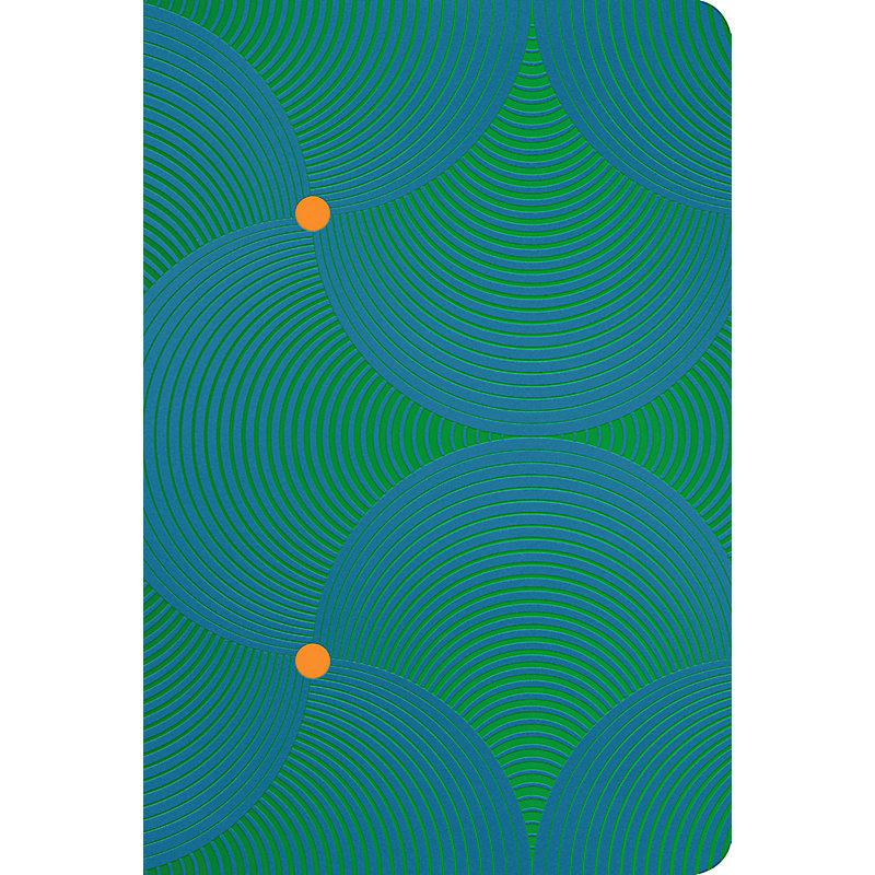 RVR 1960 Biblia Letra Grande Tamaño Manual remolino verde/azul, símil piel