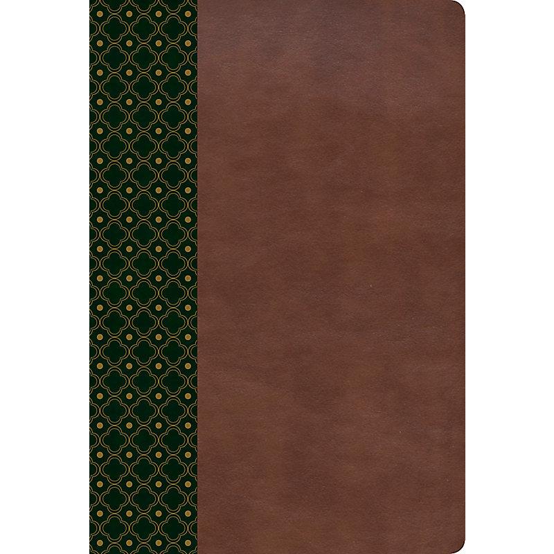 RVR 1960 Biblia de Estudio Scofield, verde oscuro/castaño símil piel