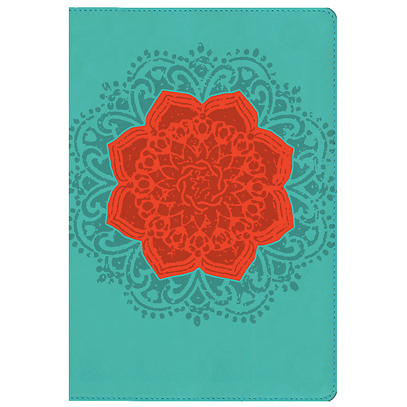 NKJV Essential Teen Study Bible, Personal Size, Coral Flower