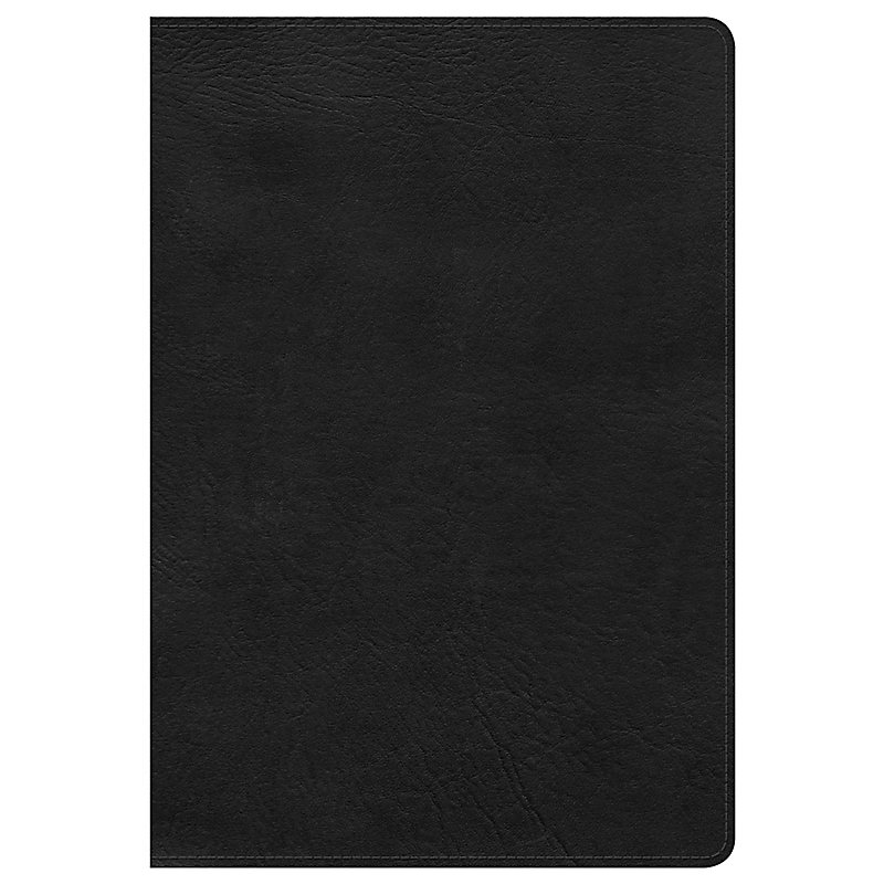 KJV Giant Print Reference Bible, Black LeatherTouch