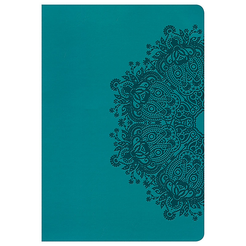 NKJV Large Print Ultrathin Reference Bible, Teal LeatherTouch, Indexed