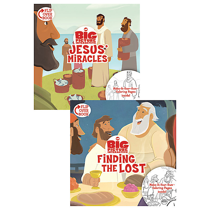 Jesus' Miracles/Finding the Lost, Flip-Over Book