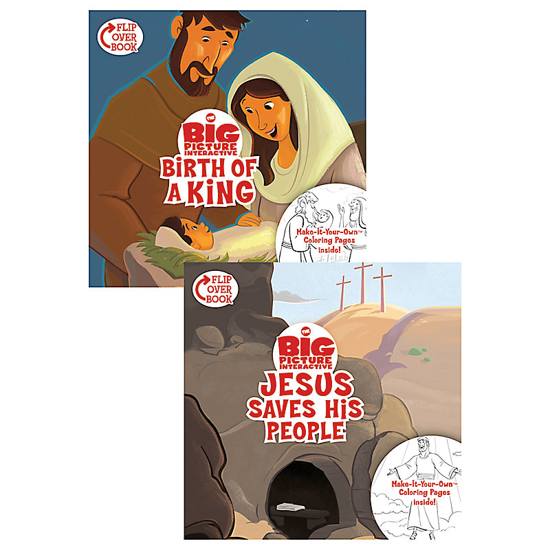 The Birth of a King/Jesus Saves His People Flip-Over Book