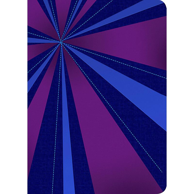 RVR 1960 Biblia Compacta Letra Grande, rayos de azul/violeta símil piel con índice