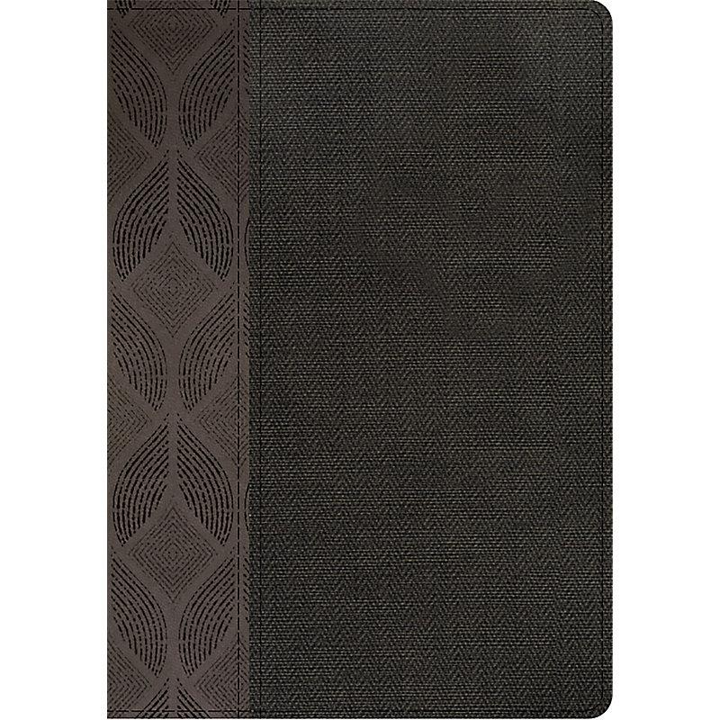 RVR 1960 Biblia Compacta Letra Grande, geométrico/twill gris símil piel con índice