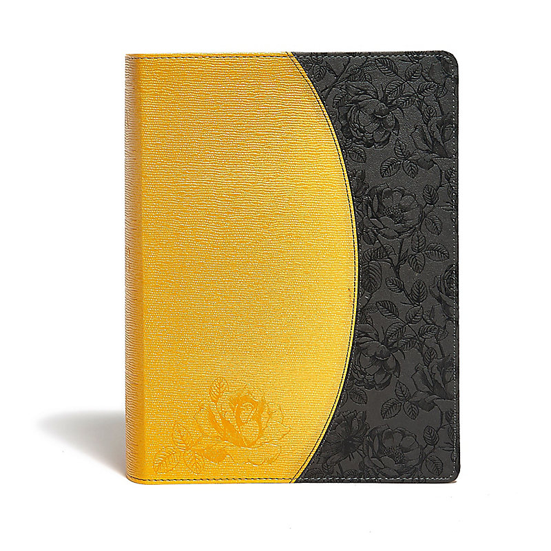 KJV Study Bible, Canary/Slate Grey, LeatherTouch, Indexed