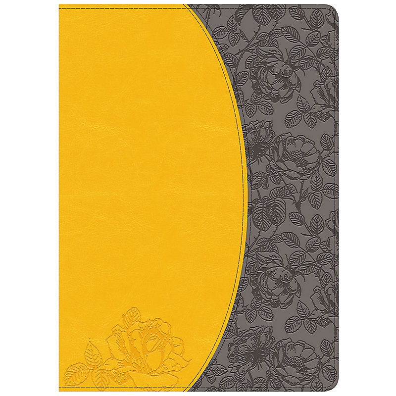 Holman Study Bible: NKJV Edition, Canary/Slate Grey, LeatherTouch, Indexed
