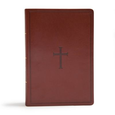 Christian gifts for him lifeway csb super giant print reference bible brown leathertouch indexed negle Image collections