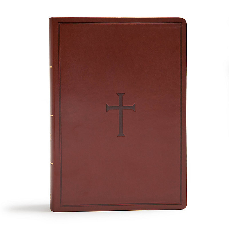 CSB Super Giant Print Reference Bible, Brown LeatherTouch, Indexed