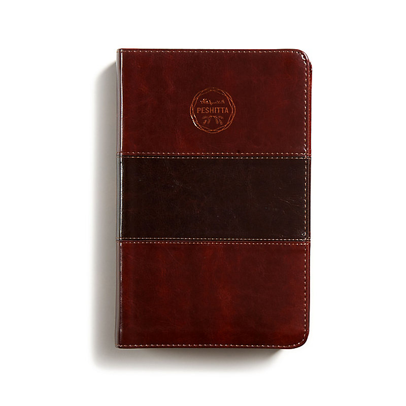 Biblia Peshitta, caoba duotono símil piel con índice