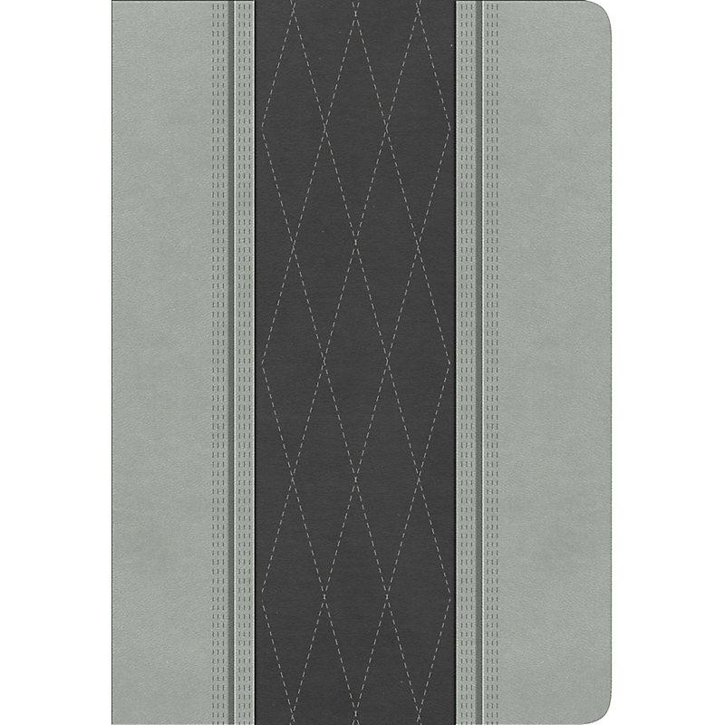 RVR 1960 Biblia Letra Grande Tamaño Manual, gris claro/gris carbón símil piel
