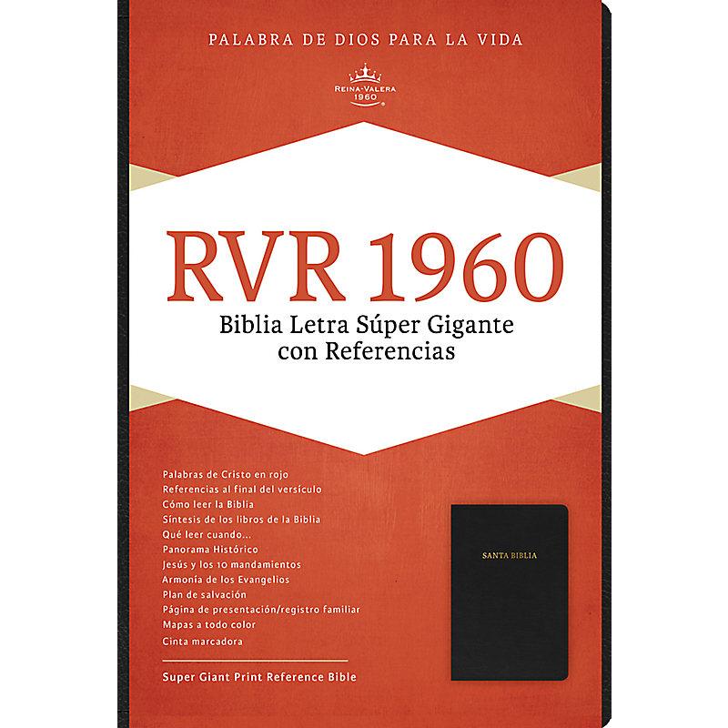 RVR 1960 Biblia Letra Súper Gigante, negro piel fabricada con índice