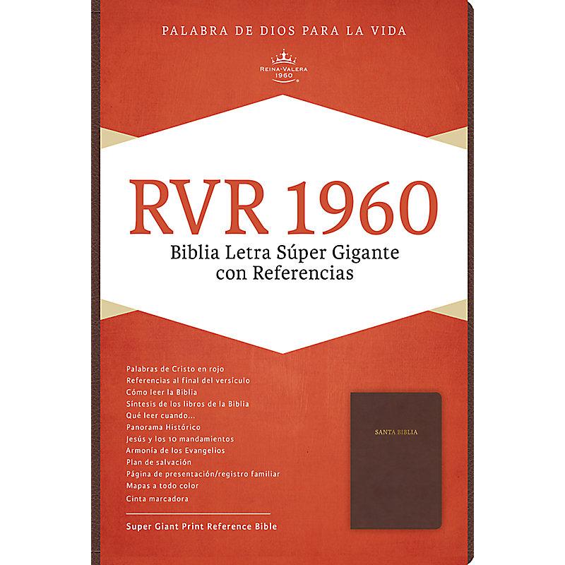 RVR 1960 Biblia Letra Súper Gigante, marrón oscuro símil piel