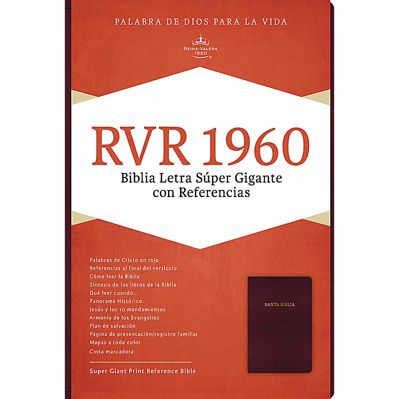 RVR 1960 Biblia Letra Súper Gigante, borgoña imitación piel