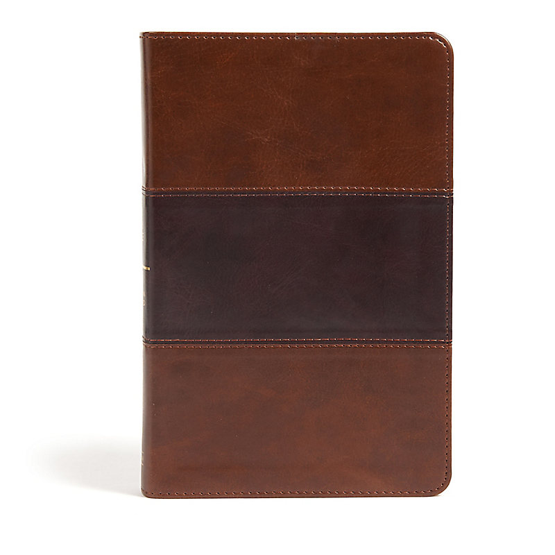 CSB Large Print Personal Size Reference Bible, Saddle Brown LeatherTouch, Indexed