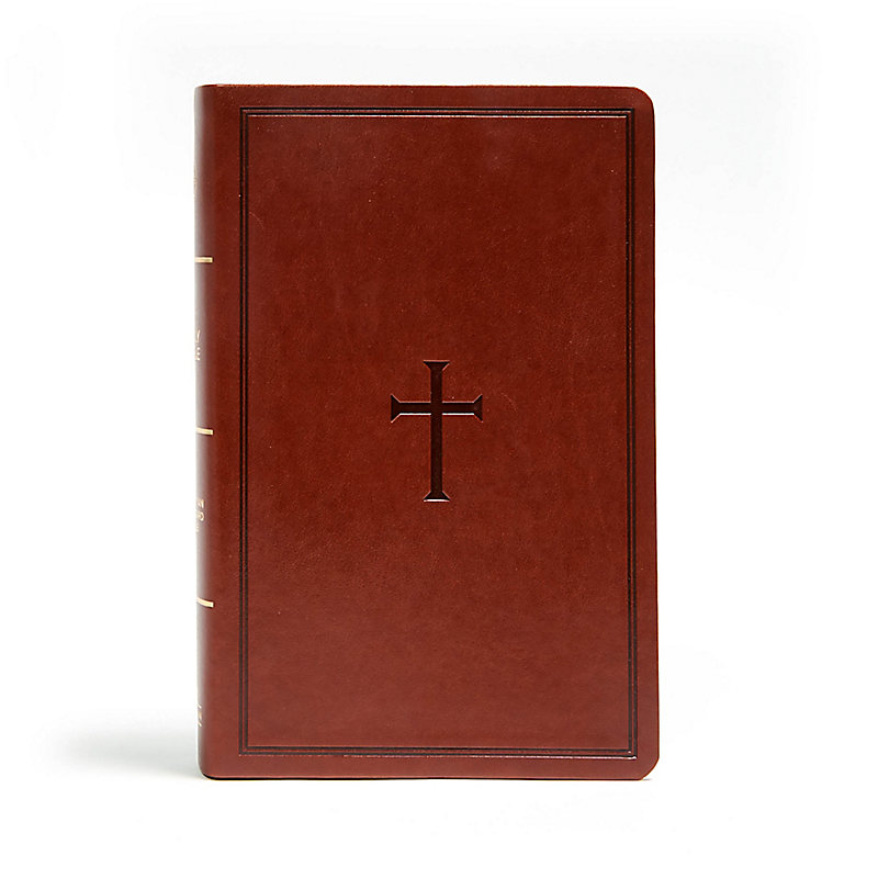 CSB Large Print Personal Size Reference Bible, Brown LeatherTouch