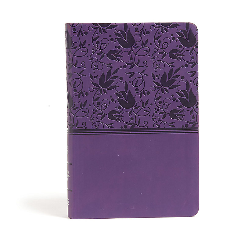 CSB Large Print Personal Size Reference Bible, Purple LeatherTouch, Indexed