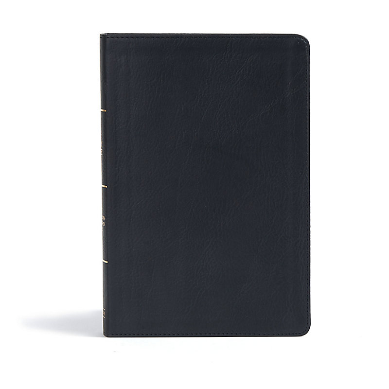 CSB Giant Print Reference Bible, Black LeatherTouch, Indexed