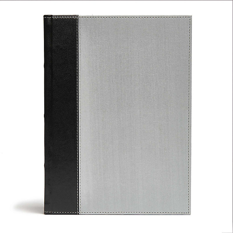 CSB Study Bible, Gray/Black Cloth Over Board, Indexed