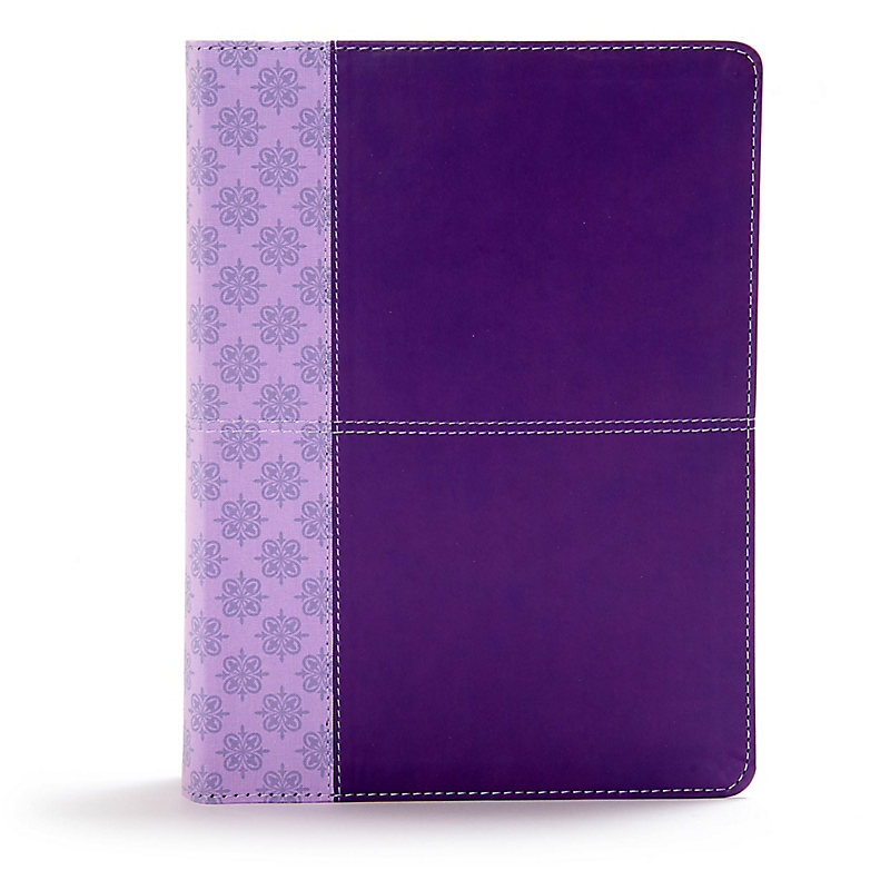 CSB Study Bible, Purple LeatherTouch