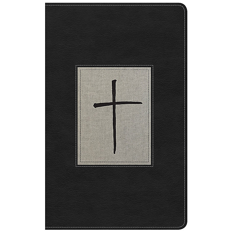 NKJV Ultrathin Reference Bible, Black/Gray Deluxe LeatherTouch