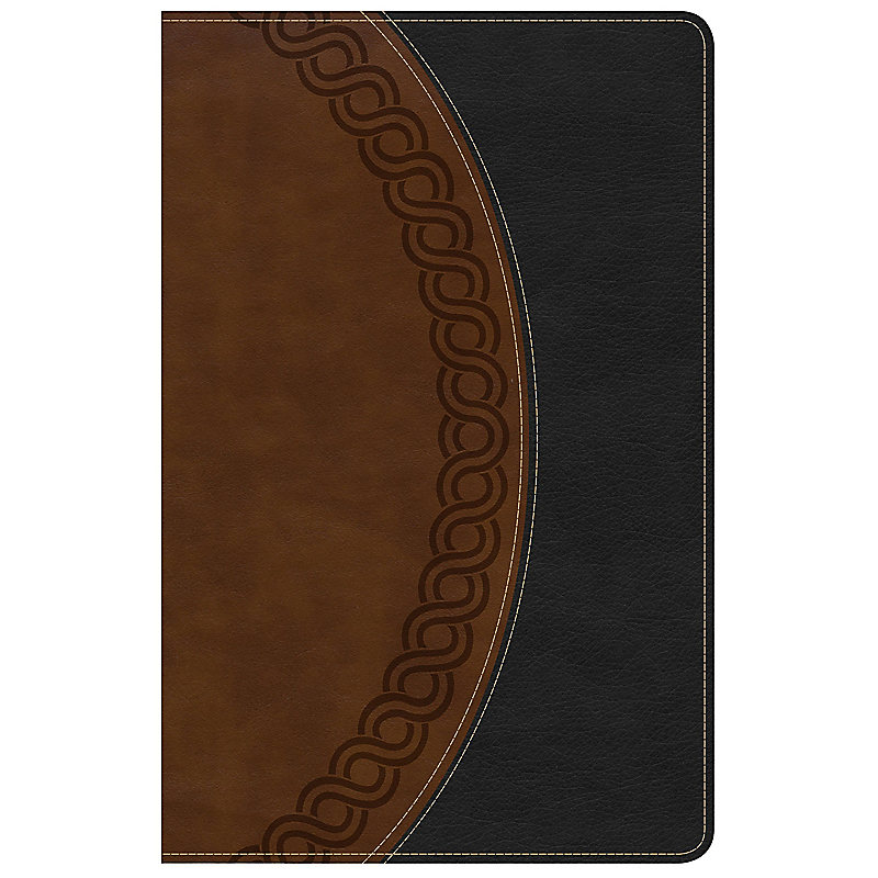 NKJV Large Print Personal Size Reference Bible, Black/Brown Deluxe LeatherTouch, Indexed