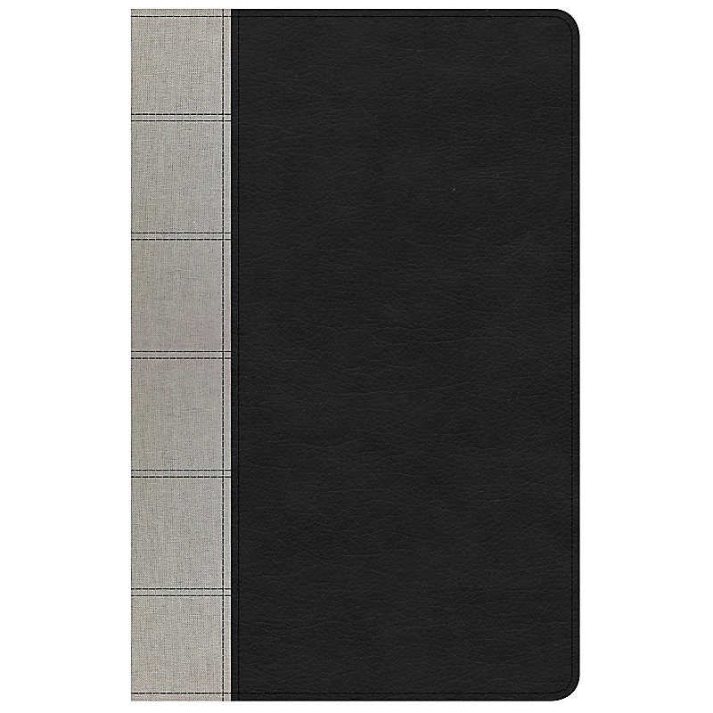 NKJV Large Print Personal Size Reference Bible, Black/Gray Deluxe LeatherTouch, Indexed