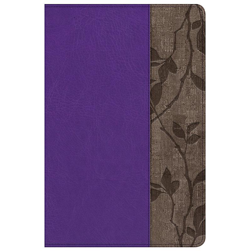 Holman Study Bible: NKJV Edition Personal Size, Purple LeatherTouch