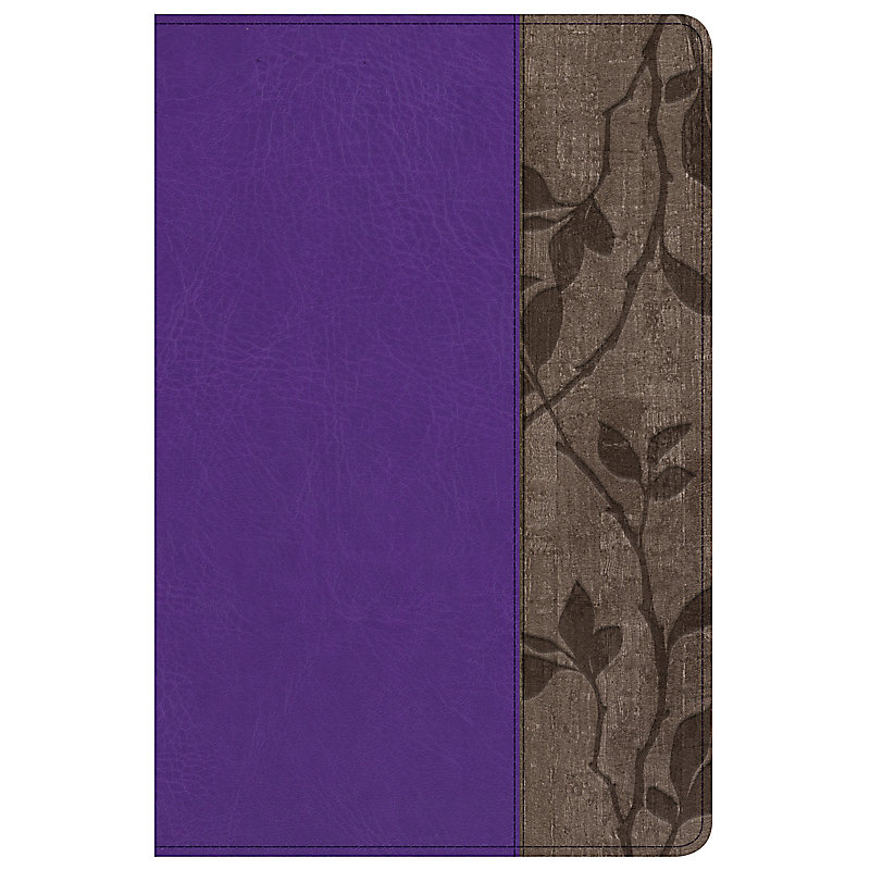 Holman Study Bible: NKJV Edition Personal Size, Purple LeatherTouch, Indexed
