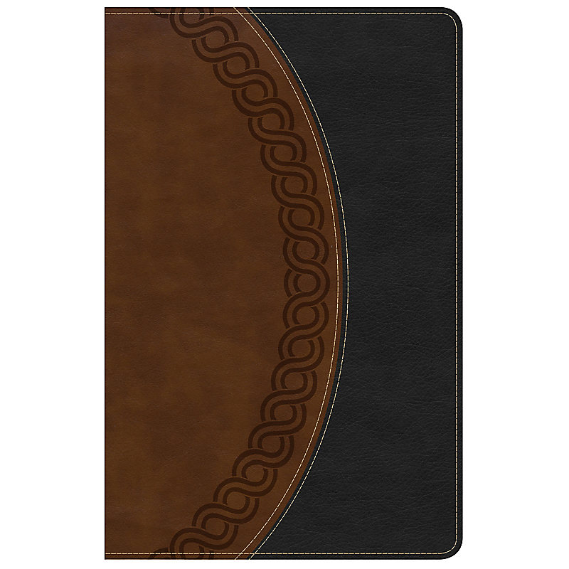KJV Large Print Personal Size Reference Bible, Black/Brown Deluxe LeatherTouch