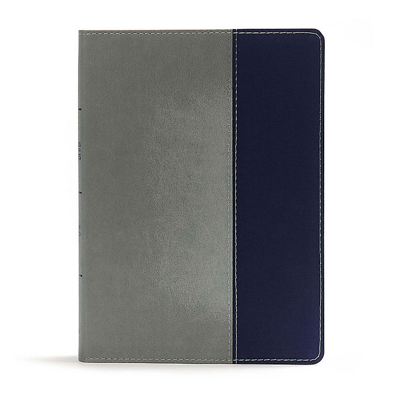 CSB Apologetics Study Bible for Students, Gray/Navy LeatherTouch