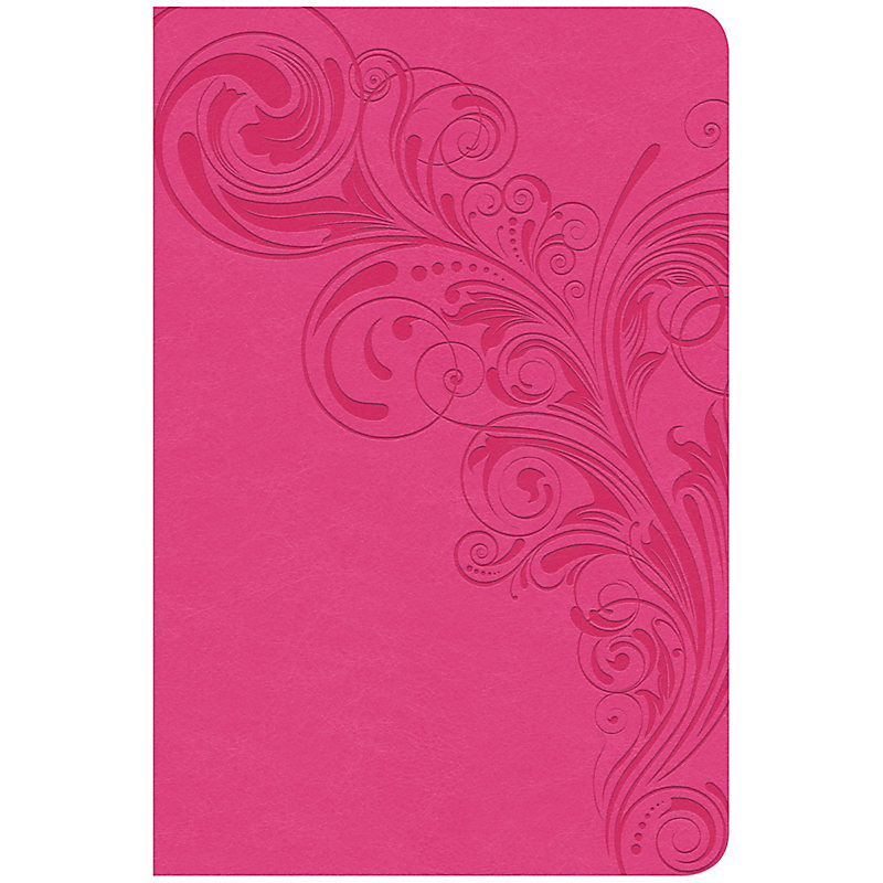 CSB Compact Ultrathin Bible, Pink LeatherTouch, Indexed