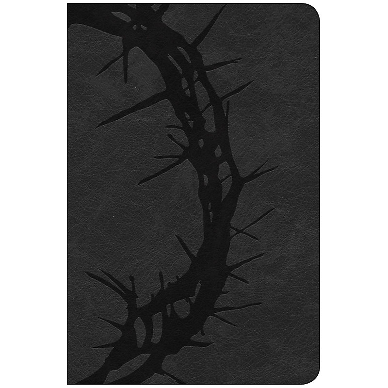 CSB Compact Ultrathin Bible, Charcoal LeatherTouch
