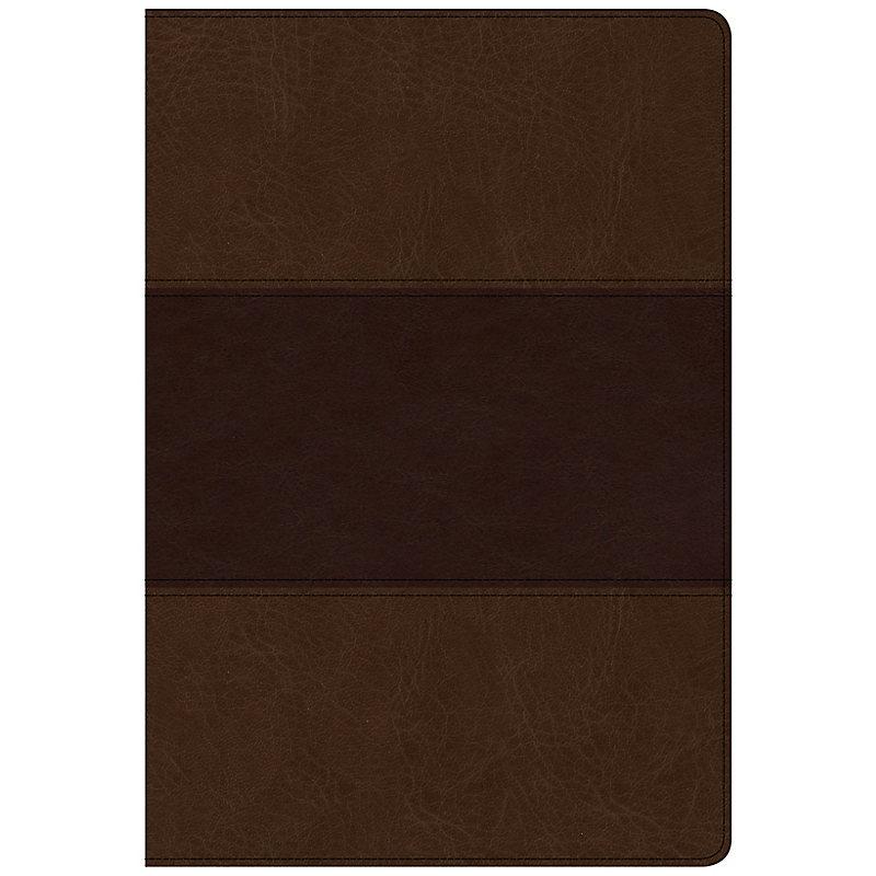 CSB Super Giant Print Reference Bible, Saddle Brown LeatherTouch