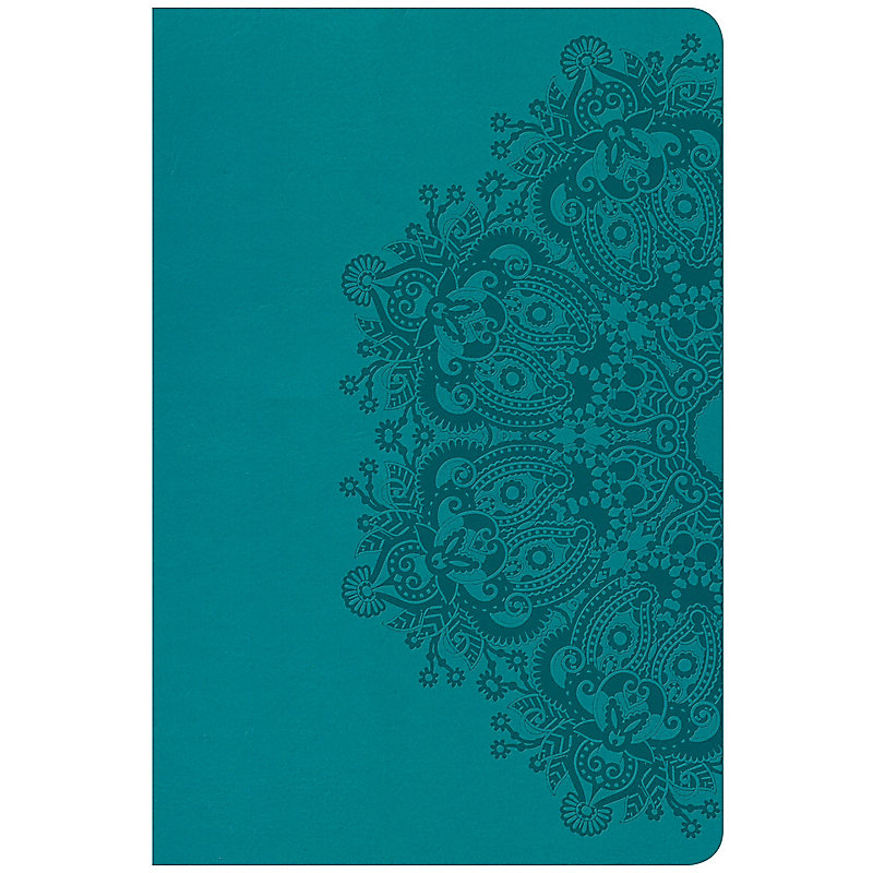 CSB Super Giant Print Reference Bible, Teal LeatherTouch, Indexed