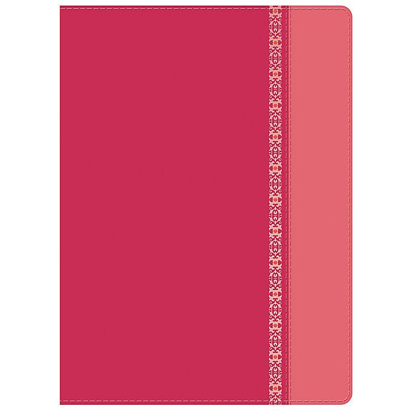 RVR 1960 Biblia de Estudio Holman, fucsia/rosado con filigrana símil piel