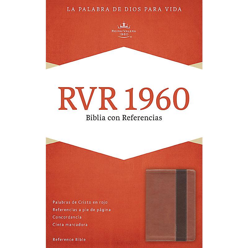 RVR 1960 Biblia con Referencias, cobre/marrón profundo símil piel