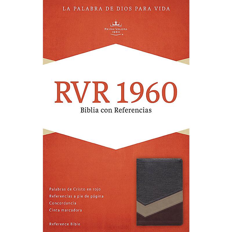 RVR 1960 Biblia con Referencias, marrón/tostado/bronceado símil piel