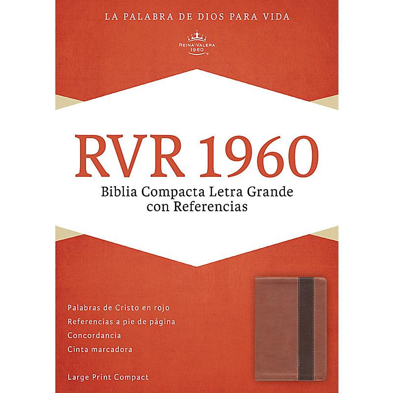 RVR 1960 Biblia Compacta Letra Grande con Referencias, cobre/marrón profundo símil piel