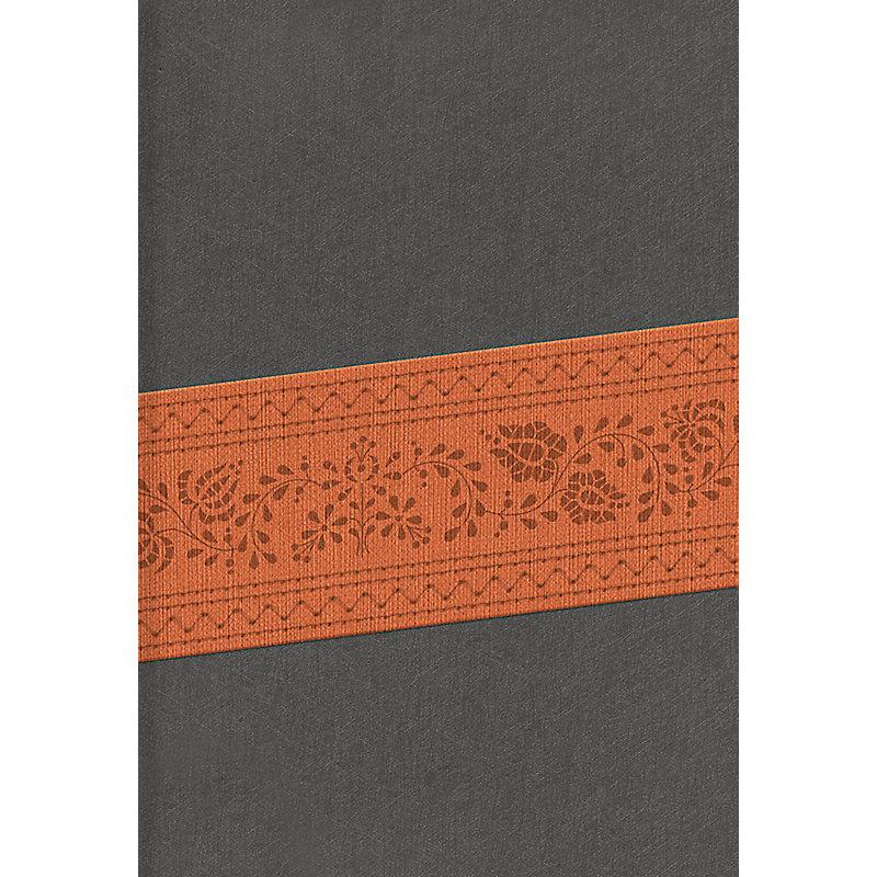 RVR 1960 Biblia Letra Grande Tamaño Manual, gris/marrón edición símil piel con índice y cierre