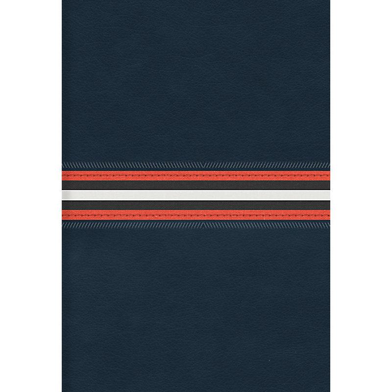 RVR 1960 Biblia Letra Grande Tamaño Manual, azul marino piel fabricada edición con índice y cierre