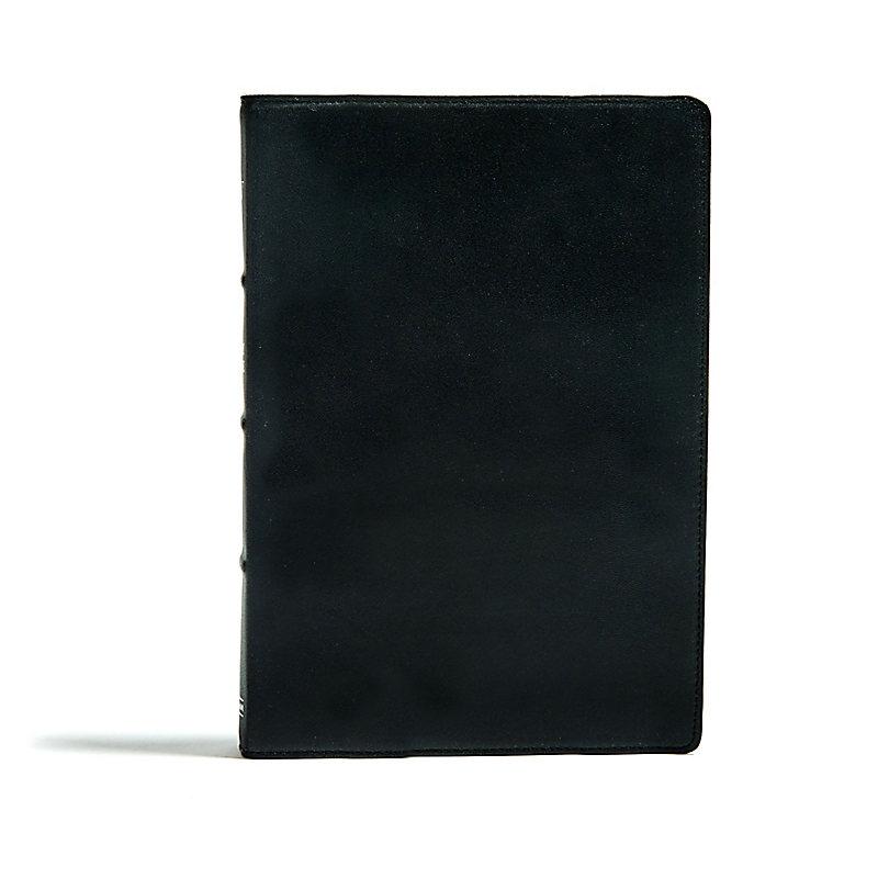 KJV Large Print Ultrathin Reference Bible, Premium Black Genuine Leather, Indexed, Black Letter Edition