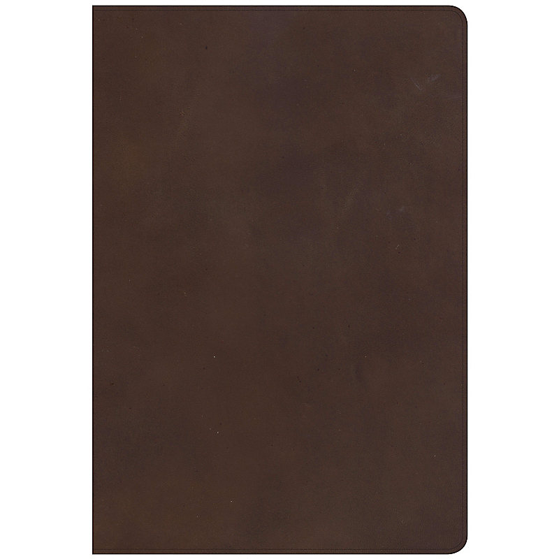 NKJV Super Giant Print Reference Bible, Brown Genuine Leather, Indexed