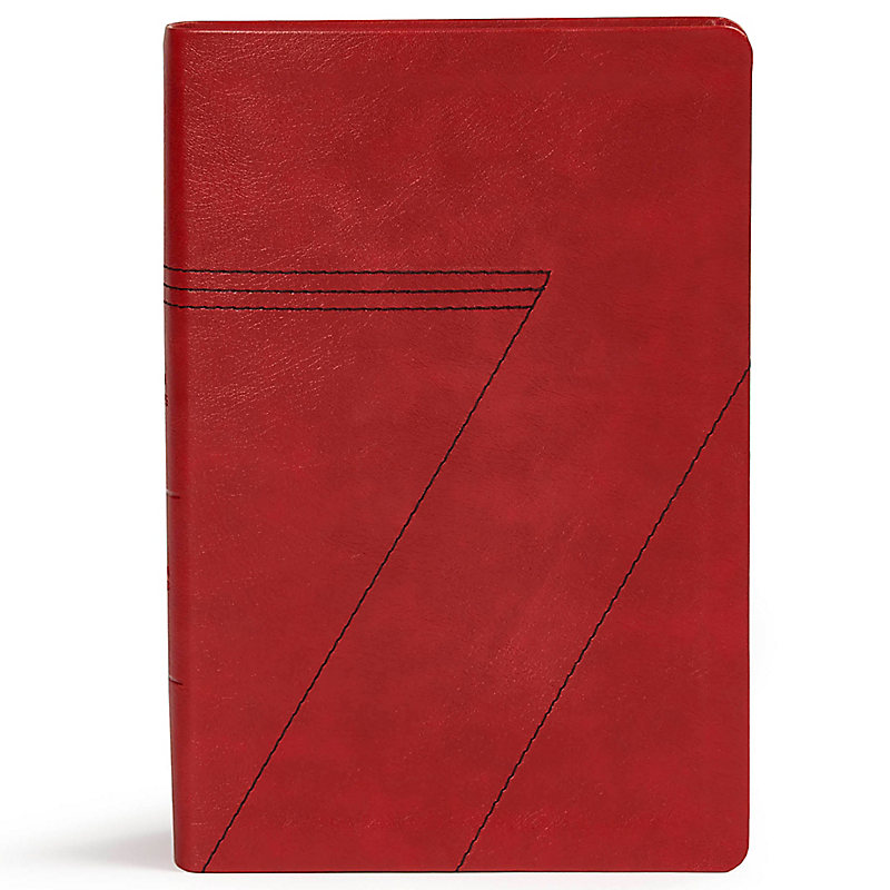 CSB Seven Arrows Bible, Crimson LeatherTouch