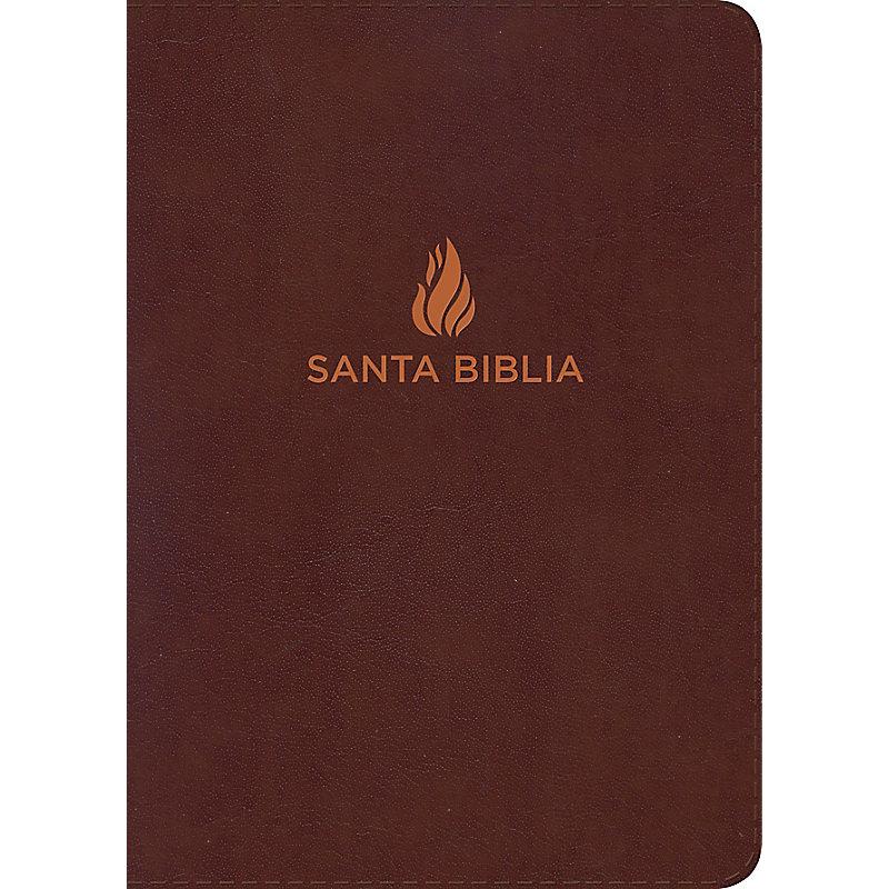 RVR 1960 Biblia Letra Gigante marrón, piel fabricada con índice