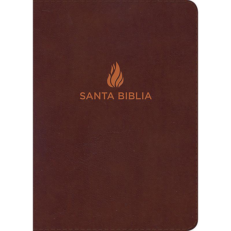 RVR 1960 Biblia Letra Grande Tamaño Manual marrón, piel fabricada con índice