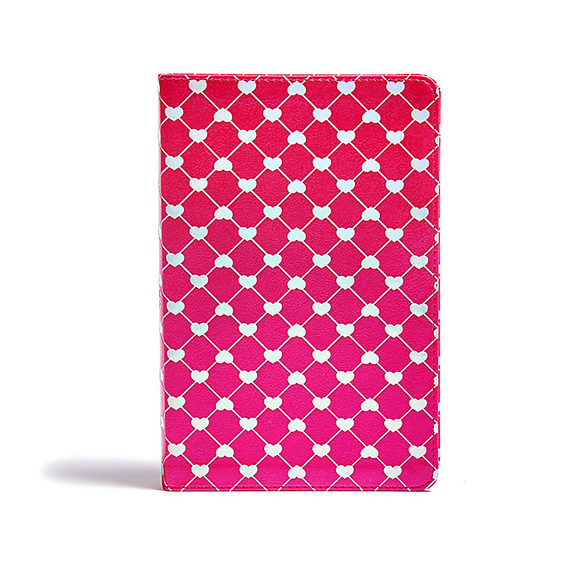 CSB Kids Bible, Shiny Hearts LeatherTouch