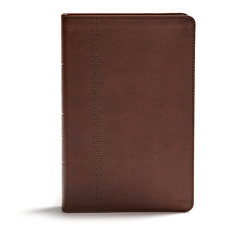 CSB Restoration Bible, Brown LeatherTouch, Indexed