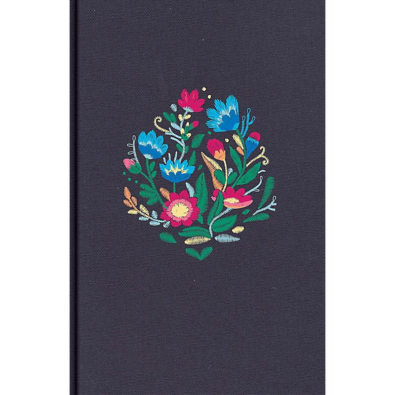 NVI Biblia Letra Súper Gigante, azul bordado sobre tela